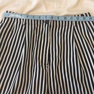 American Apparel Shorts - Women's striped high waist American apparel shorts